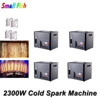 4IN1 Flightcase And 4 Bags Powder 2300W Cold Spark Firework Machine DMX 512 Control Fountain Fireworks Wedding Machine Dj Light