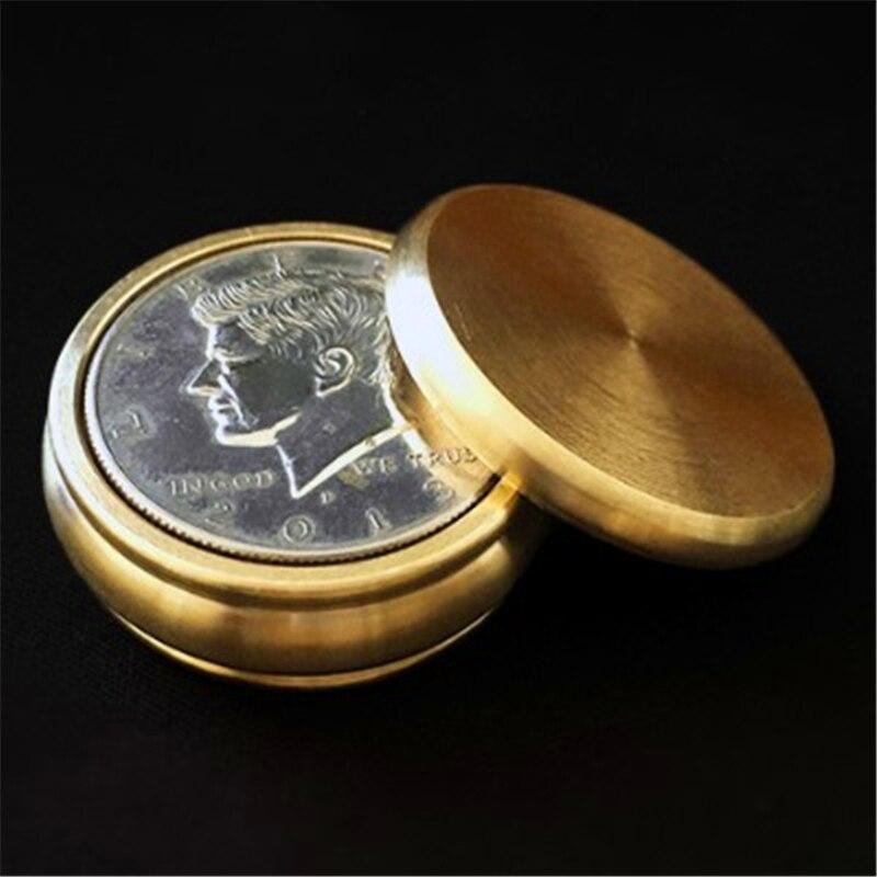 Bouddha Boston Box (demi-Dollar, laiton) tours de magie magicien gros plan Illusion Gimmick accessoire mentalisme pièce pénétrer disparaître Magia