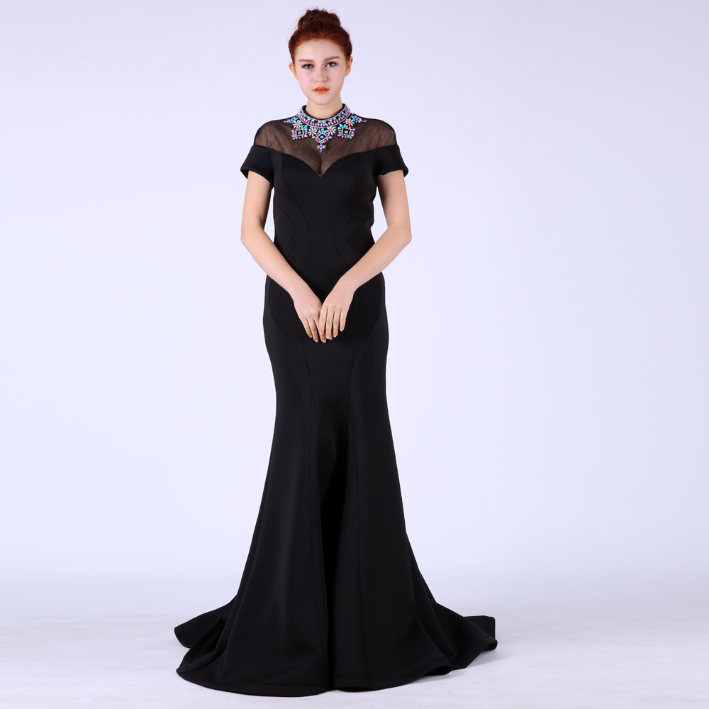 Vestido De Festa Elegant Evening 2018 Long Black Mermaid Party Prom Formal Gown Robe De Soiree Mother Of The Bride Dresses