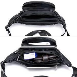 Image 4 - MVA Mens Waist Bag Belt Waist Packs Sheep genuine Leather Waist Bag For men/women Fanny Pack Belt Bum/Hip mens belt bags  8879