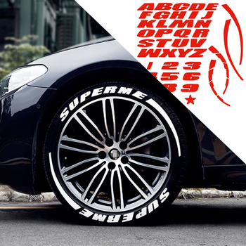 Car Motorcycle Wheel Universal 3D Emblem Tire Letter Number Auto Personality Label Styling DIY Decoration Tyre Sticker image