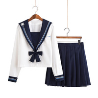 Japanese School Uniform Jk Uniforms Sailor Suit Cosplay College Middle School Uniform Dress Girls Students Anime Pleated Skirt