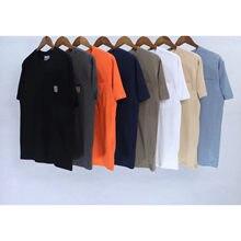 High street top t men 9 cores estilo solto bolso t camisas de manga curta oversized ver?o streetwear camisa hip hop-40