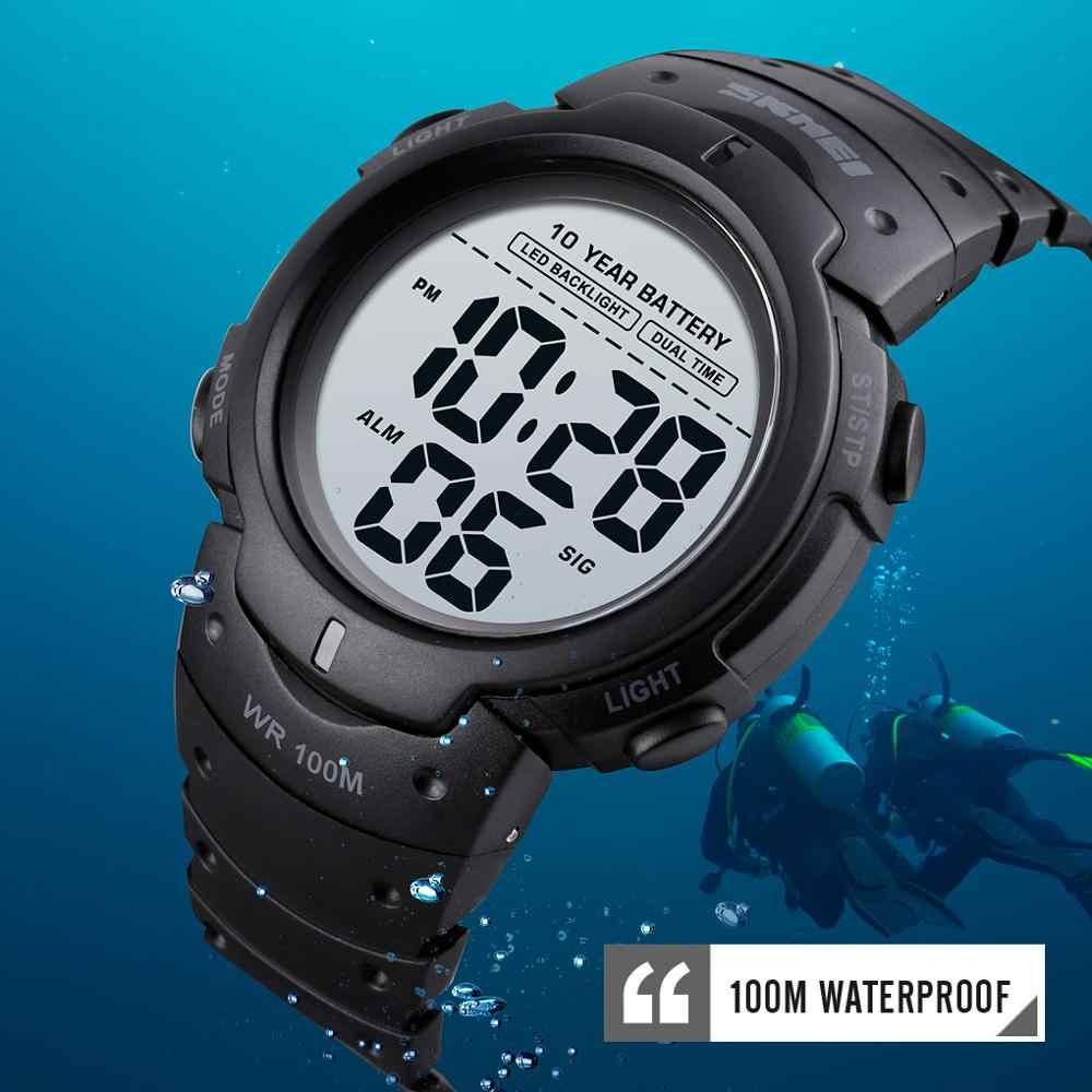 SKMEI 1560 السباحة العسكرية الساعات الرياضية 10 سنوات بطاريات معمرة ساعة رجالية 100 متر مقاوم للماء الذكور ساعة رقمية reloj hombre