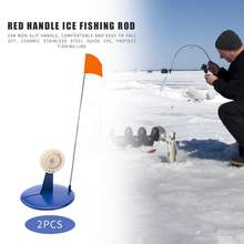 Hot Sale Ice Fishing Rod Flags Wear-resistant Outdoor Winter Ice Fishing Pole Tip-Up Flags River Lake Fishing Tackle Tool(China)