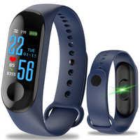 M3 Smart Wristband Fitness tracker Bracelet Waterproof bluetooth smartwatch LED Message Heart Rate monitor smart bracelet
