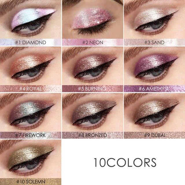 FOCALLURE 14 Colors Liquid Pigment Eyeshadow Ocean Light Waterproof Glitter Shimmer Highlighter Brighten Makeup Liquid Eyeshadow 3