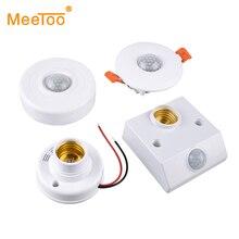 Sound Light Switch PIR Motion Sensor Smart Switch E27 220V 110V AC Auto On/Off Light Lamp Holder Ceiling Sensor Detector Module