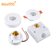 Geluid Licht Schakelaar PIR Motion Sensor Smart Switch E27 220V 110V AC Auto On/Off Light Lamp houder Plafond Sensor Detector Module(China)