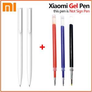 Original Xiaomi Mijia Gel Pen 9.5mm Smooth Switzerland Japan black/Blue Ink Refill White Durable Signing Mi Pens