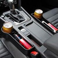 Assento de carro fenda gap caixas de armazenamento catcher caixa organizador de bolso suporte de copo do telefone