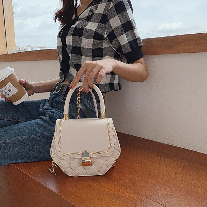 2019 Shoulder Bags Female PU Leather Bags Women Handbags Famous Brand Small Ladies Crossbody Bags For Women Tote Bags in Shoulder Bags from Luggage Bags
