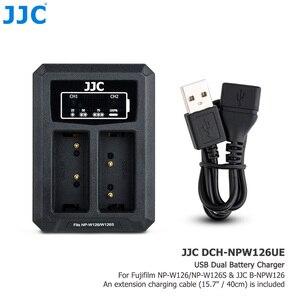 Image 3 - Jjc BC W126 usbデュアルバッテリー充電器NP W126 NP W126S富士フイルムXT30 XT3 X100V XT20 XE3 X100F XPRO3 XPro2 XA3 XA5
