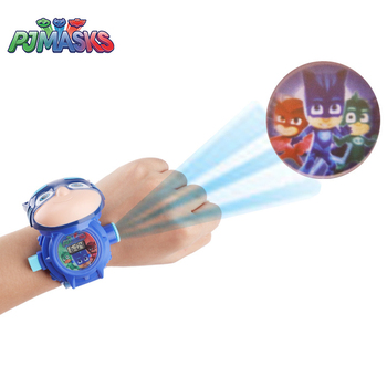 PJ Masks Toys Outdoor Sport Games for Children 3D Projection Watch PJ Mask Clock Action Figure Toy Watch Birthday Gifts for Boys