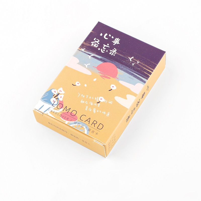 28 Sheets/Set Happy Mind Memo Series Lomo Card Mini Postcard DIY Greeting Card Birthday Letter Gift Card 52*80mm