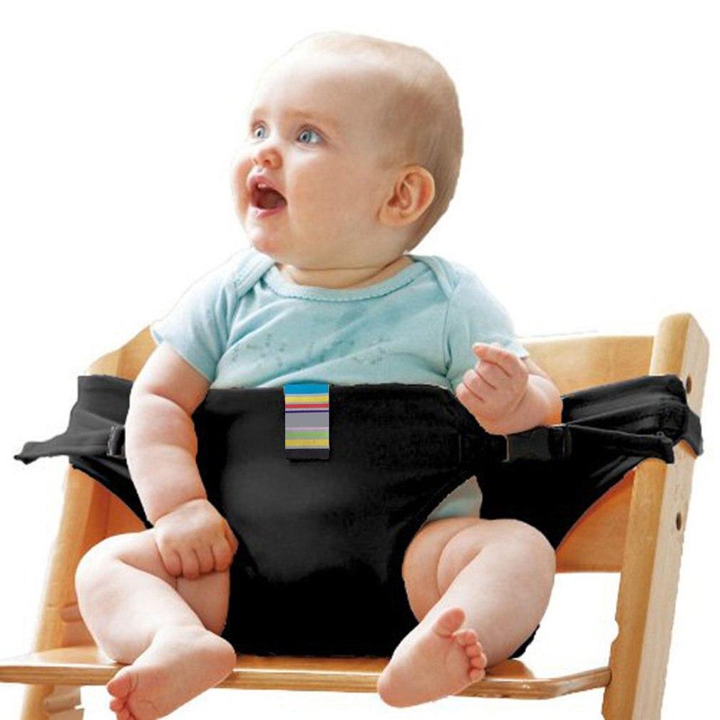 Cadeira de jantar do bebê cinto de segurança assento portátil cadeira de almoço assento estiramento envoltório alimentação arnês assento do bebê booster cinto de jantar
