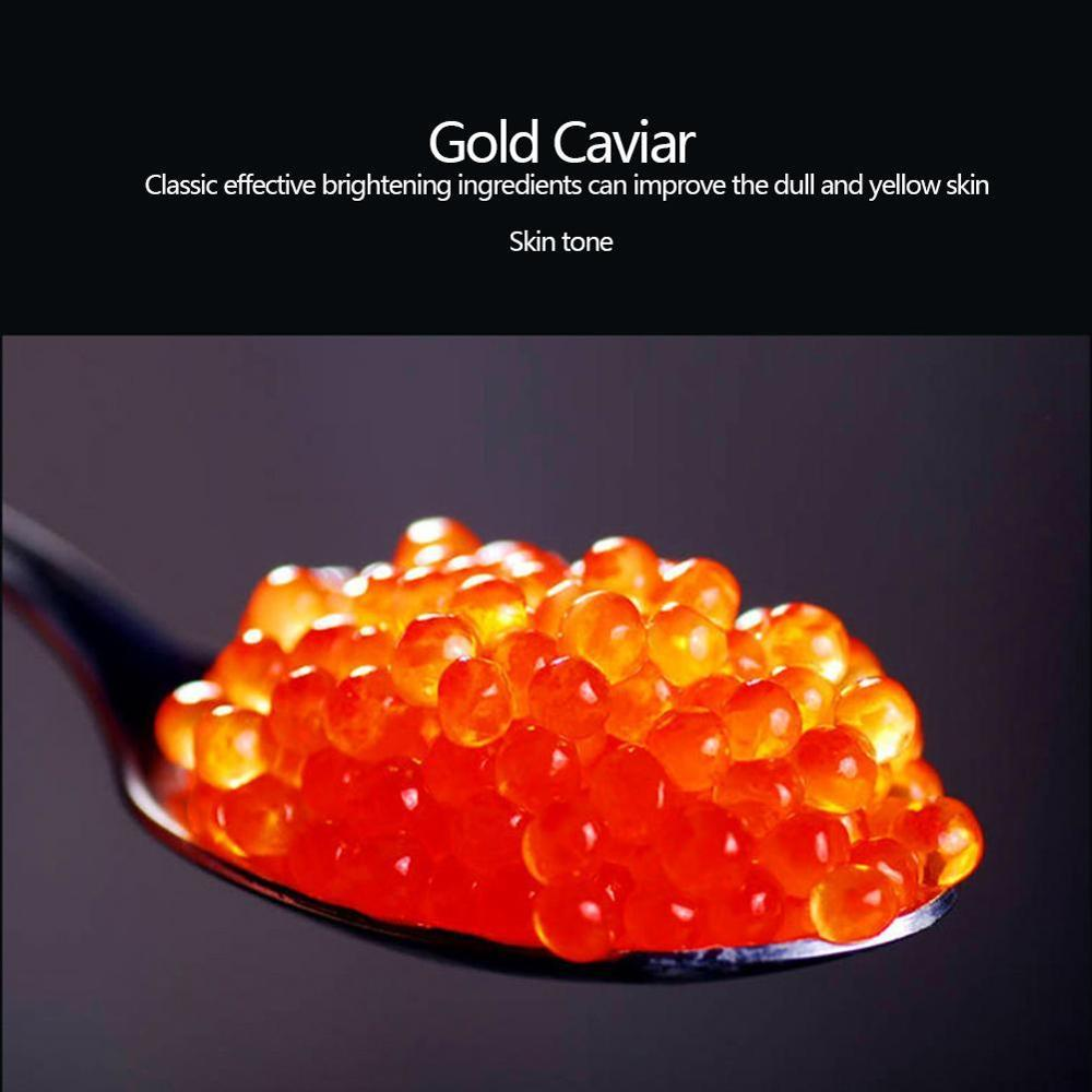 High Quality 10 Pcs Gold Caviar Hydrating Facial Mask Deep Moisturizing Easy to Absorb and Improve Skin Facial Care 3