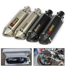 38-51mm Universal Motorcycle Akrapovic Exhaust Modify Motocross Exhaust Muffler For FZ6 CBR250 CB600 MT07 ATV Dirt Pit Bike(China)