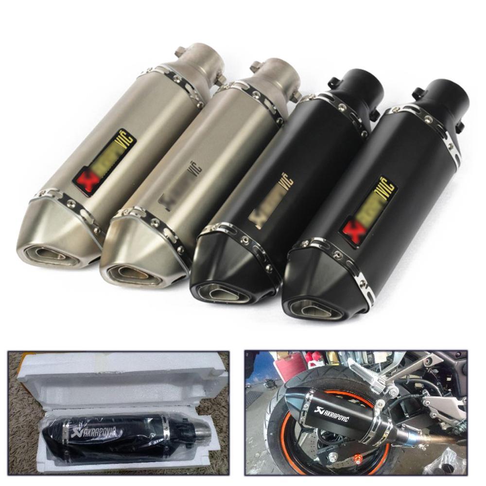38-51mm moto universelle Akrapovic échappement modifier le silencieux d'échappement de Motocross pour FZ6 CBR250 CB600 MT07 ATV Dirt Pit Bike