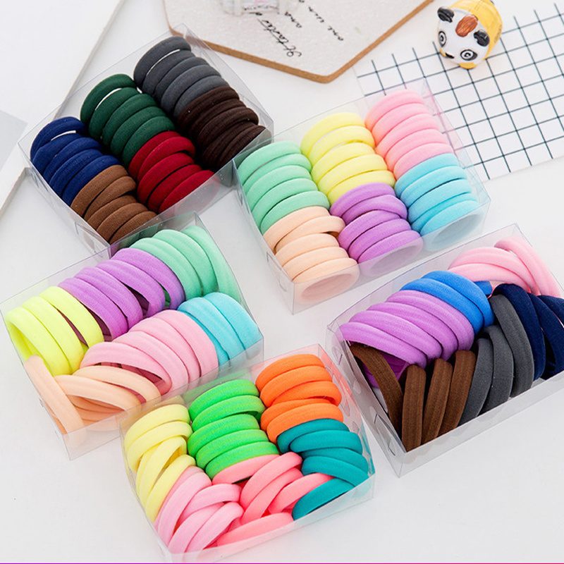 50 Pcs High Elastic Hair Bands For Women Girls Hairband Ponytail Holder Rubber Band Scrunchies Hair Accessories Beauty Tools