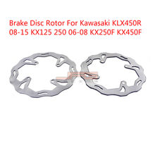 Motorcycle Front Rear Brake Disc Rotor For Kawasaki KX125 KX250 2006 2007 2008 KX250F KXF250 KX450F KXF450 06-14 KLX450R(China)