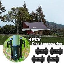 4 pçs acampamento ao ar livre toldo haste titular à prova de vento caminhadas dossel tenda suporte tubo fixo