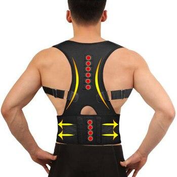 Winter Invisible Orthopedic Magnetic Therapy Back Support Belt Posture Corrector Shoulder Spine Girdle Corset Straightener Brace magnetic therapy posture corrector brace shoulder back support belt for braces