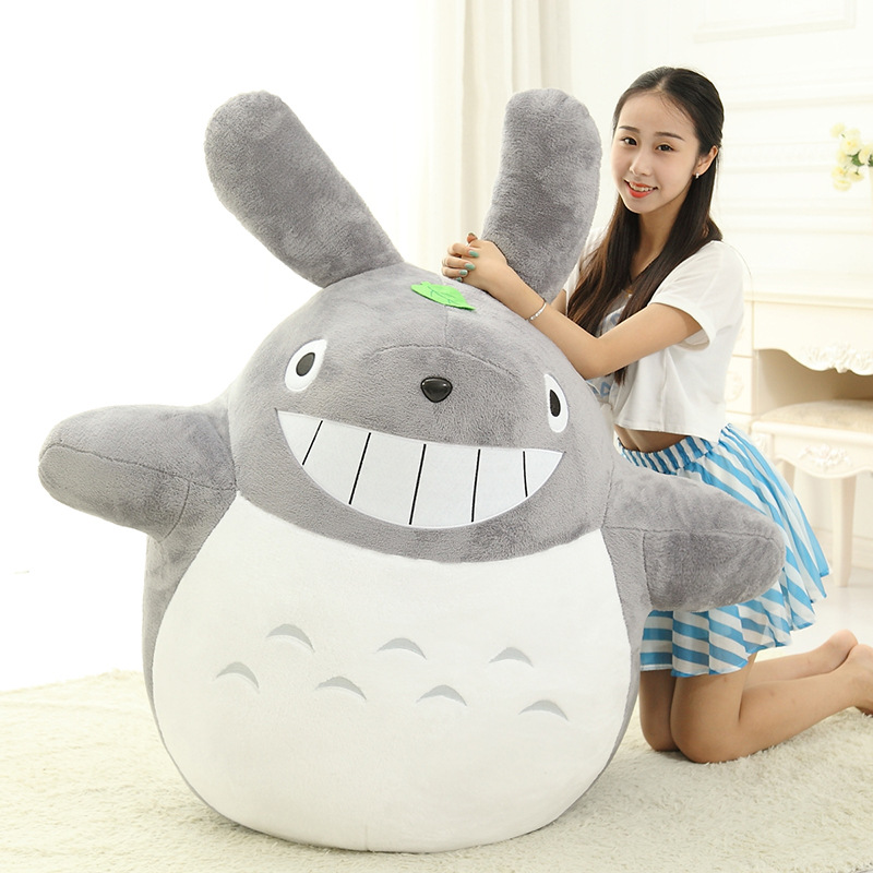Studio Ghibli Grin New My Neighbor Totoro Large Soft Anime Plush Toy Miyazaki Hayao Stuffed Doll Gift For Kids Big & Small Size