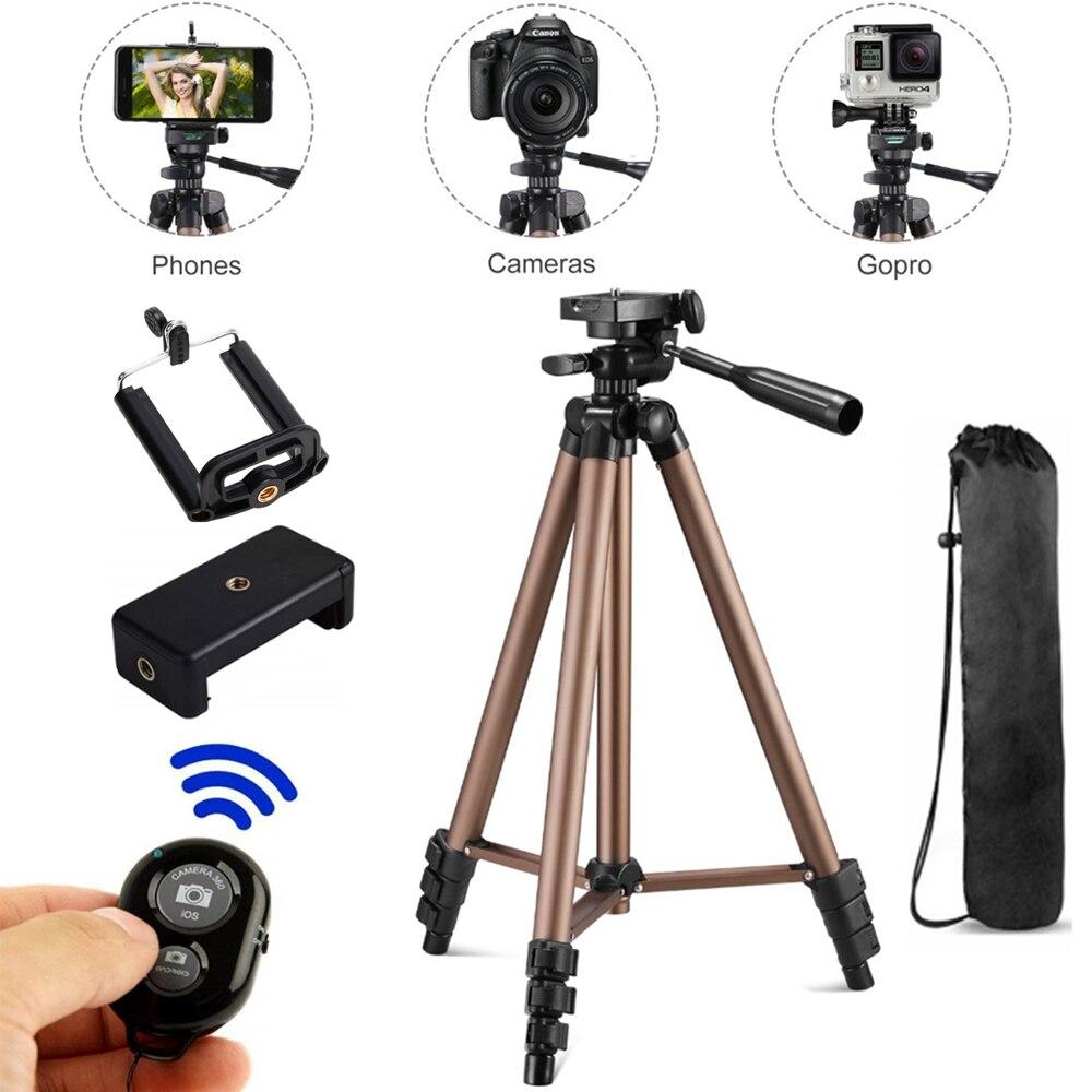 Trípode para cámara Wt3130, soporte para teléfono para cámara DSLR, videocámara Digital DV, soporte para teléfono móvil de aluminio de 1,3 m y 130cm de alto Antena telescópica de largo alcance extensible de 130cm para GPS portátil garmin astro 320 astro 220 astro 430