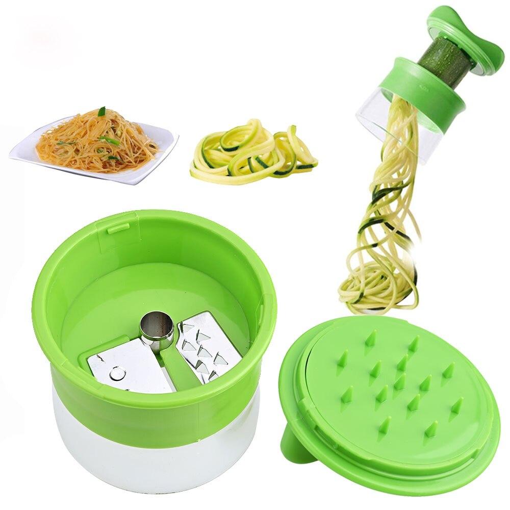 Ручная спиральная терка для моркови, картофеля, огурца, салата, лапши, спагетти, лезвие из кабачков, спиральные инструменты, слайсер для овощ...