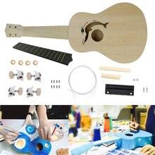 Гавайские гитары укулеле DIY Набор 21 дюймов укулеле Ручная Покраска модель MoonEmbassy для музыкального инструмента Начинающий специальный подарок