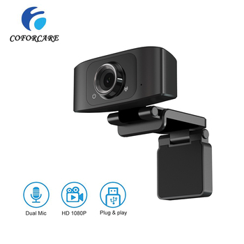 COFORCARE USB Webcam HD 1080P PC Camera Dual Microphone MIC Webcam Auto Focus for Skype for Android TV PC Camera USB WebCam coforcare 1080p hd webcam usb hd pc camera dual microphone mic for skype for android tv computer ip camera usb web cam