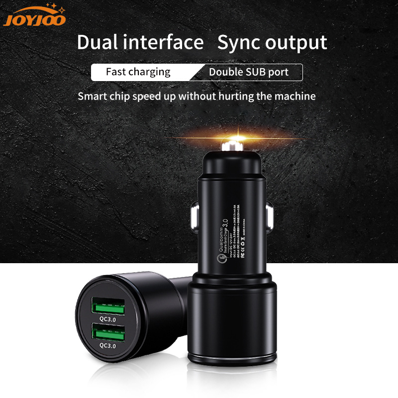 QC3.0Dual USB Car Charger 2 Ports 3.0A Cig Socket Lighter Fast Charing Auto Charging Car-Charger Accessories