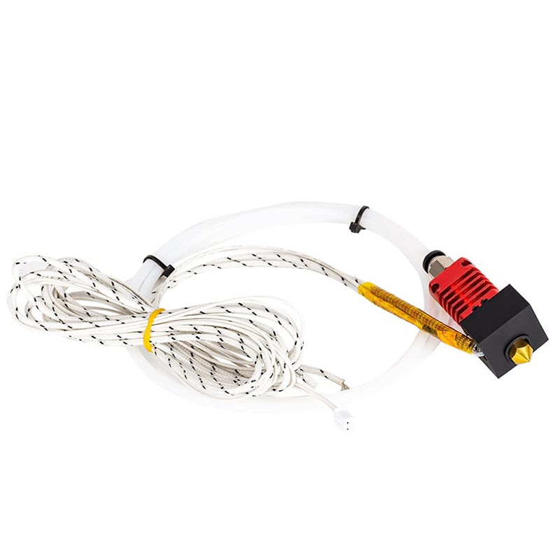 Hotend Kits MK10 24V 50W Heater Cable 100K Thermistor 3D Printer J-Head Hotend for 1.75mm Filament Extruder 0.4mm Nozzle