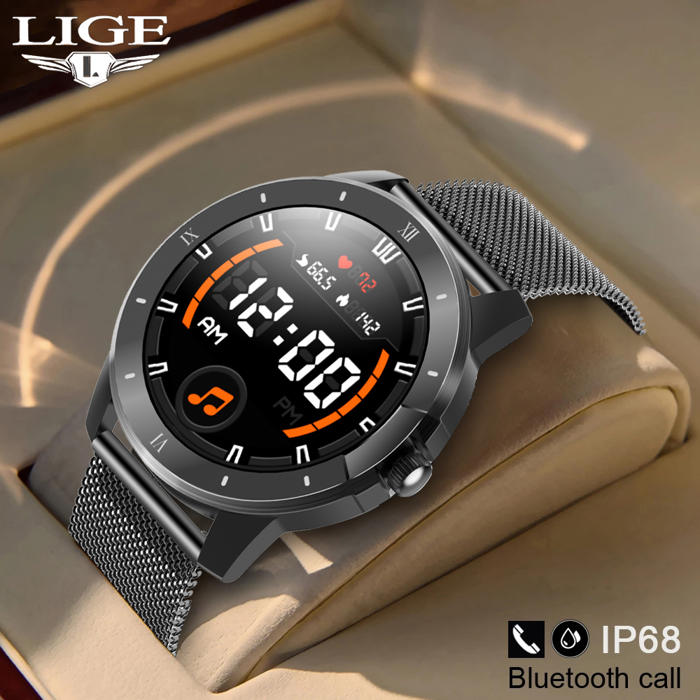 LIGE 2021 New Smartwatch Men Music Player IP68 Waterproof Watch Bluetooth Call Women Multi-Function Sports Watch For Android IOS