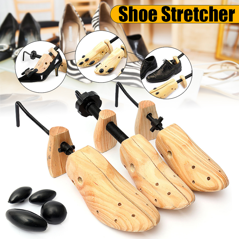 BSAID  Unisex 1pcs Shoe Stretcher Wooden Shoes Tree Shaper Rack,Wood Adjustable Flats Pumps Boots Expander Trees Size S/M/L