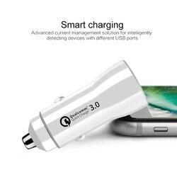3.1A ładowarka samochodowa szybkie ładowanie 3.0 uniwersalny podwójny usb szybki ładowanie QC dla iPhone Samsung Xiaomi telefon komórkowy w samochodzie