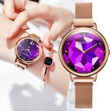 2020 יוקרה נשים שעונים יהלומי רוז זהב קריסטל שעון למעלה מותג מקרית נשים של צמיד שעונים relogio feminino