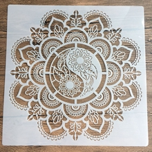 New 30 * 30cm size diy craft mandala mold for painting stencils stamped photo album embossed paper card on wood, fabric, wall