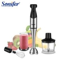 4 lâminas de duas velocidades mão elétrica liquidificador 4 em 1 cozinha 500 w misturador alimentos batedor ovo vegetal moedor carne 220 v sonifer