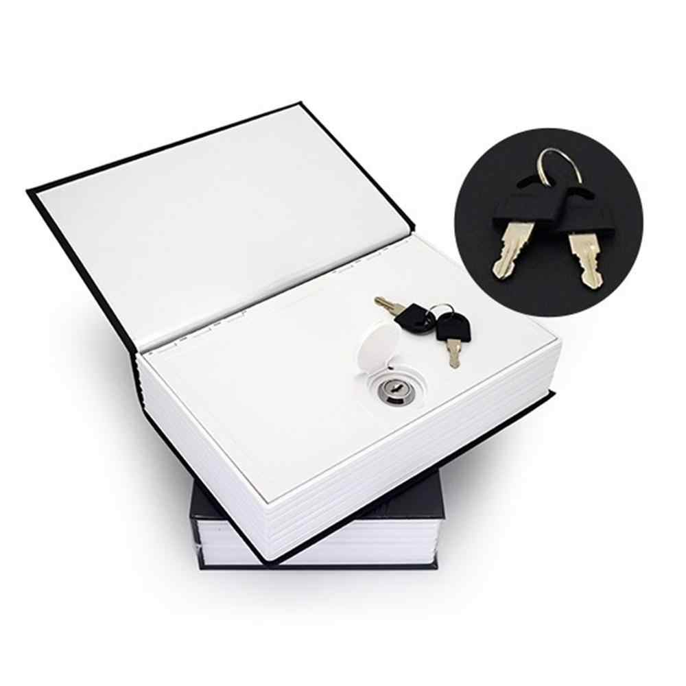 La Mini Brankas Kotak Buku Uang Menyembunyikan Rahasia Keamanan Kunci Aman Arus Uang Koin Penyimpanan Perhiasan Kunci Locker Hadiah Anak