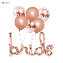 8Season Rose Gold Bride Balloon Bachelorette Balloons Party Decoration Bridal Shower Hen Decorations