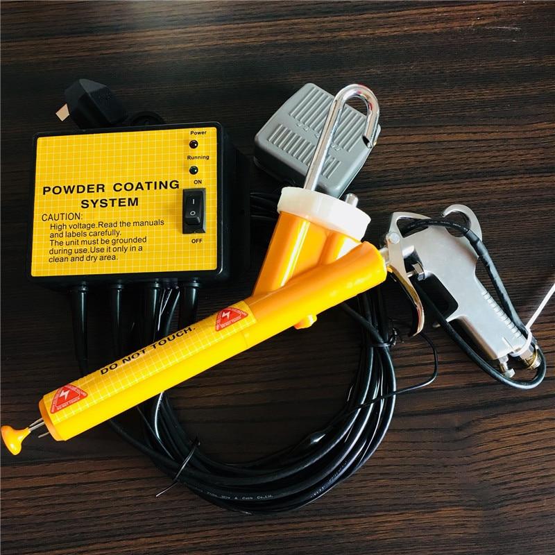 Metal Workpiece Spray Machine Mini Powder Coating System PC02 Electrostatic Spray Gun 110V/220V