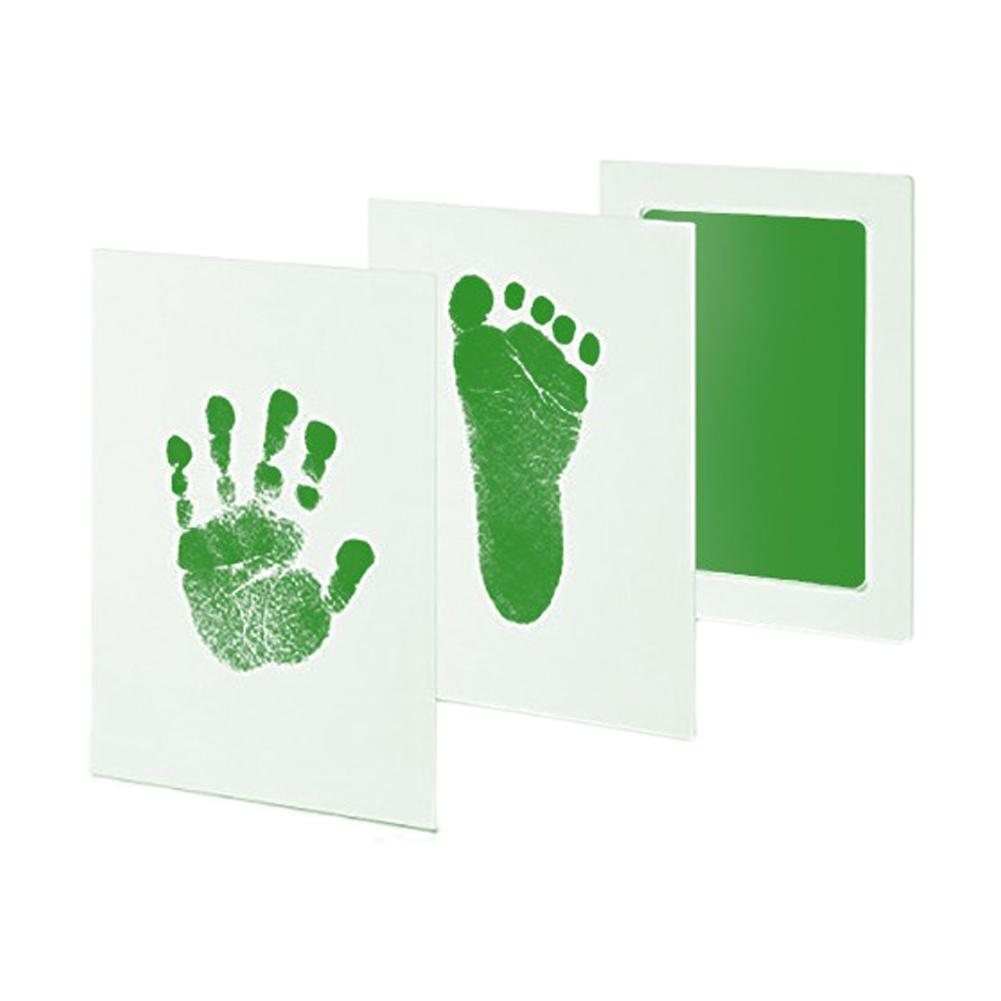 Baby Care Non-Toxic Ink Footprint Disposable Ink Kit Baby Souvenir Footprint Security Hand Environmental Footprint Baby Toy Gift