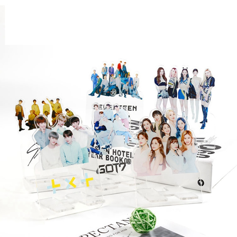 Kpop TXT Straykids Twice Acrylic Stand Action Figure Doll Seventeen ITZY GOT7 Standing Action Table Decor