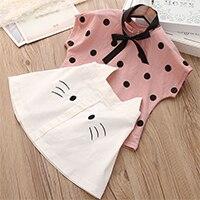 H90831cef2e444b9899008ecf3e1e05c5o Menoea Girls Suits 2020 Summer Style Kids Beautiful Floral Flower Sleeve Children O-neck Clothing Shorts Suit 2Pcs Clothes