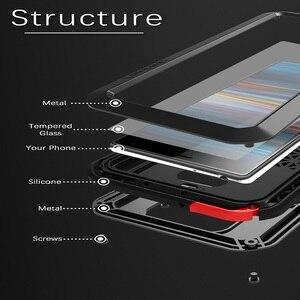 Image 5 - Güçlü Kılıf Sony Xperia 10 Artı Ağır Zırh Açık Darbeye Dayanıklı gorilla cam Metal Alüminyum Kılıf Sony Xperia 10
