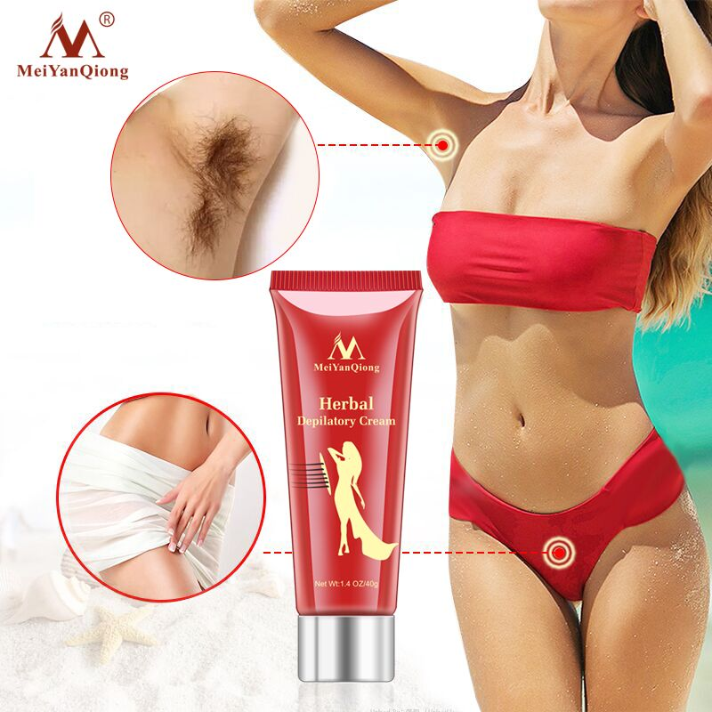 Unisex Herbal Hair Removal Cream Painless Hair Removal Removes Underarm Leg Hair Body Care Gentle Not Stimulating image