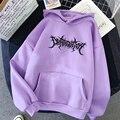 Зимние размера плюс бархат с забавным принтом, свитер с надписью harajuku/женские толстовки для женщин больших размеров одежда пуловеры Топы в ...