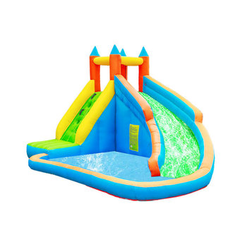 цена на Inflatable Bouncy Castle Climbing Bounce House Jumper Water Slide Pool Combo Game Center for Kids Backyard Party with Air Blower